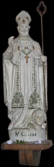 Statue de Saint Claude  Eglise de Saint Romphaire  Manche
