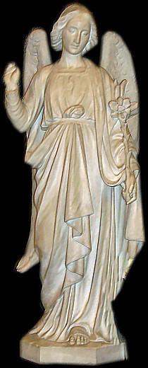 Statue de Saint Gabriel. Chapelle Saint Gabriel Lourdes