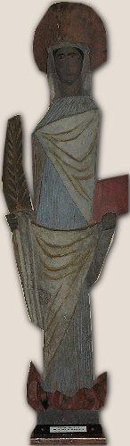 Statue de Sainte Apolline Eglise d'Agneaux(50)