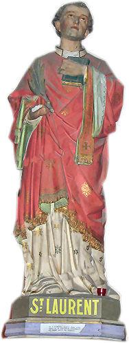 Statue de Saint Laurent Eglise de Saint Sauveur- Lendelin Manche