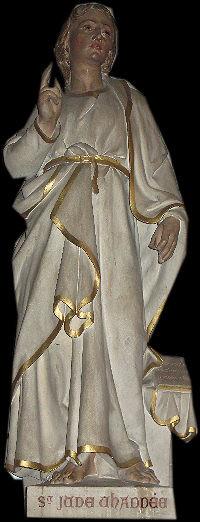 Statue de Saint Jude Eglise de Saint Pair Sur Mer