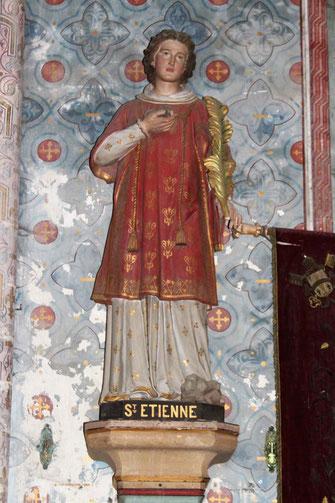 Statue de Saint Etienne Eglise Saint Pierre Mont Saint MICHEL Manche