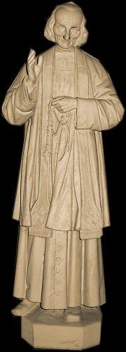 Statue de Jean-Marie Vianney Curé d'Ars Eglise de Cambernon
