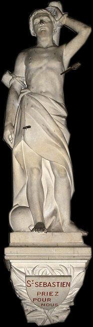 Statue de Saint Sébastien Eglise d'Eranguerville Manche