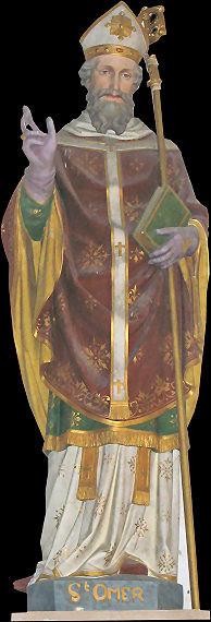 Statue de Saint Omer Eglise d'Orval Manche
