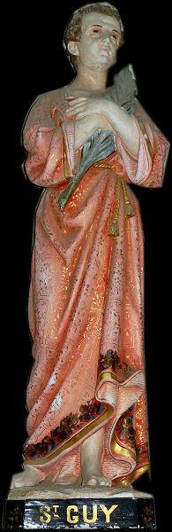 Statue de Saint Guy Eglise de Saint Aubin des Préaux ( Canton de Granville)