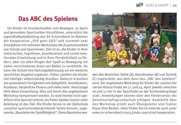 """Bericht in dem Magazin """"LebensArt"""" - Ausgabe April 2018 (als Download einfach Artikel anklicken)"""