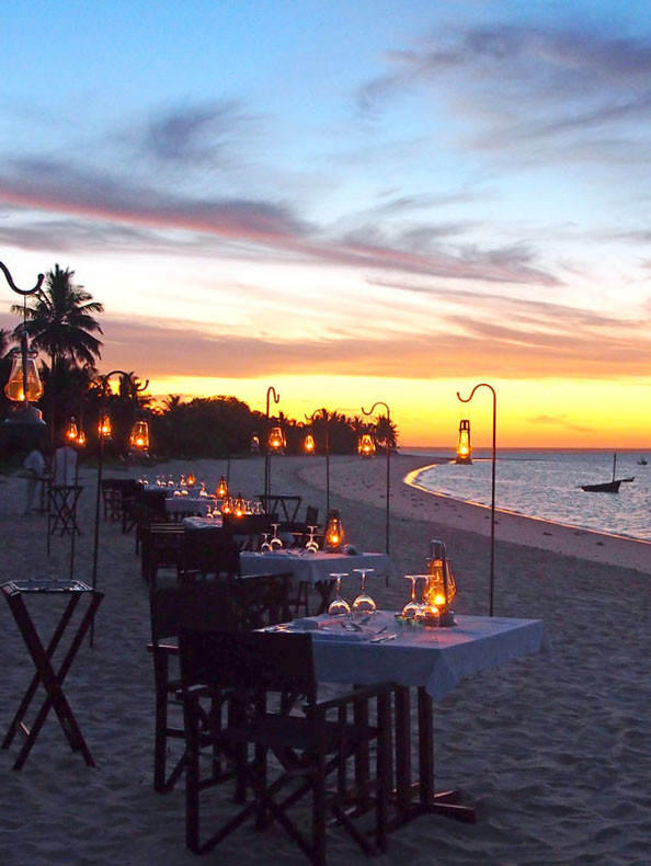 Mosambik: Dinner am Strand in der andBeyond Benguerra Lodge