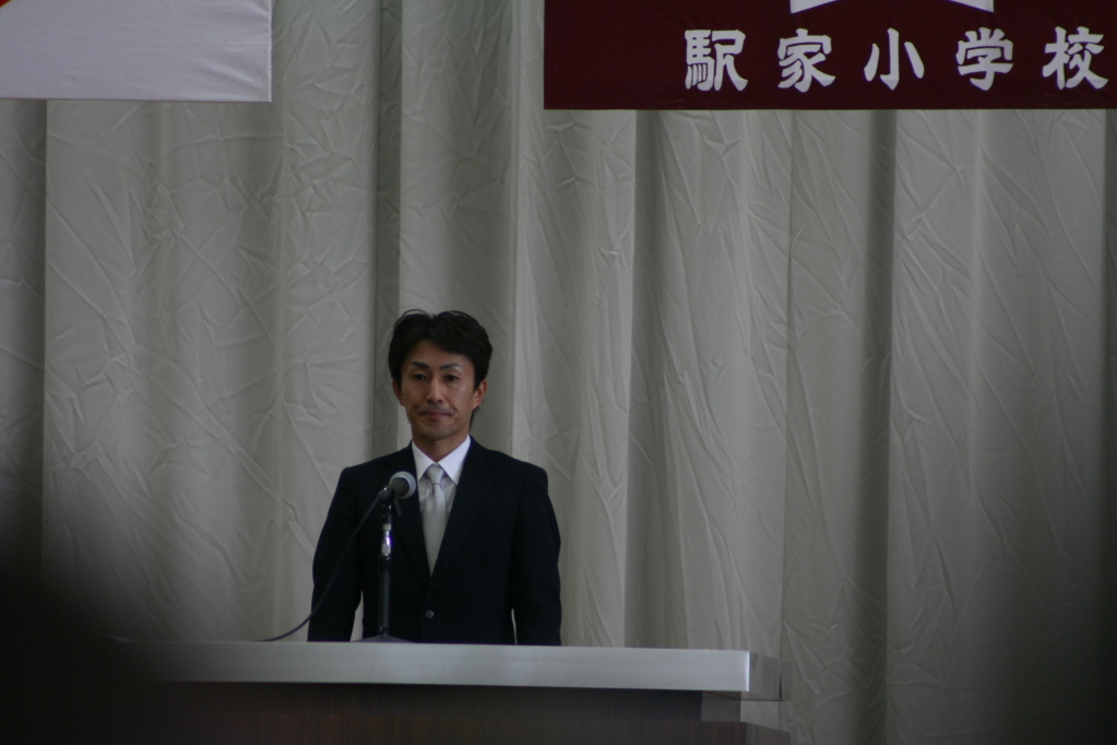 われらがPTA会長!!すばらしいスピーチ!