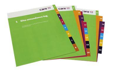 Plastic Folder Dividers / Printed Tabbed File Dividers UK