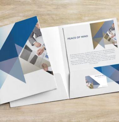 Presentation Folders - Printed Plastic Pocket folders UK