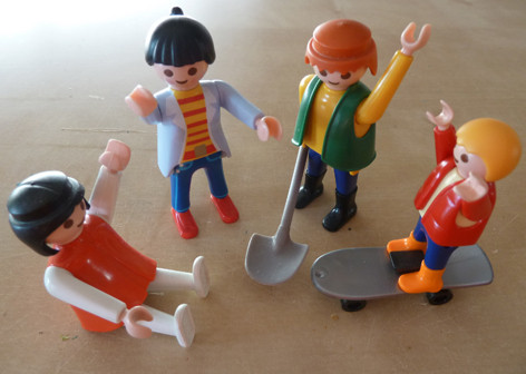 Inneres Team mit Playmobil-Figuren
