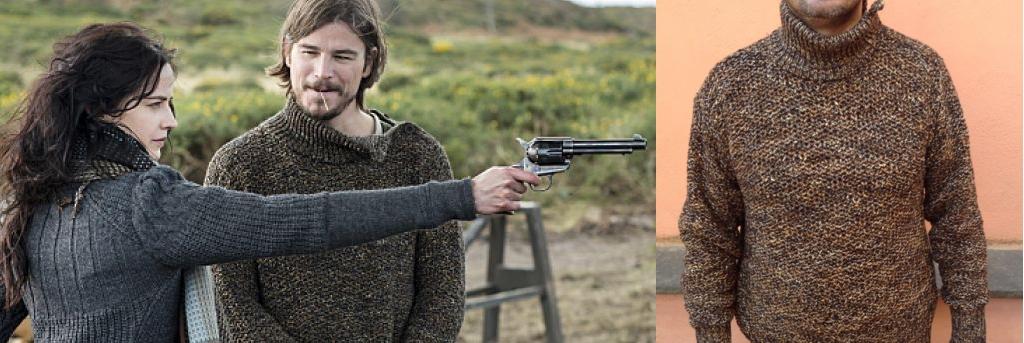 """Knitwear for Josh Hartnett, television series """"Penny Dreadful"""", costume designer Gabriella Pescucci"""