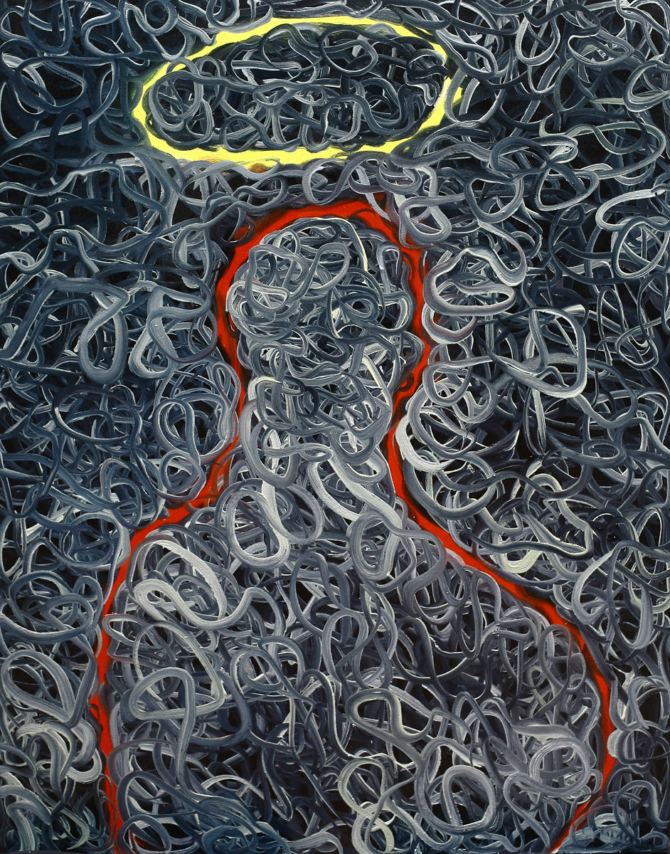 The Holy 1 (120 x 90 cm, oil on canvas, 2014) – sold