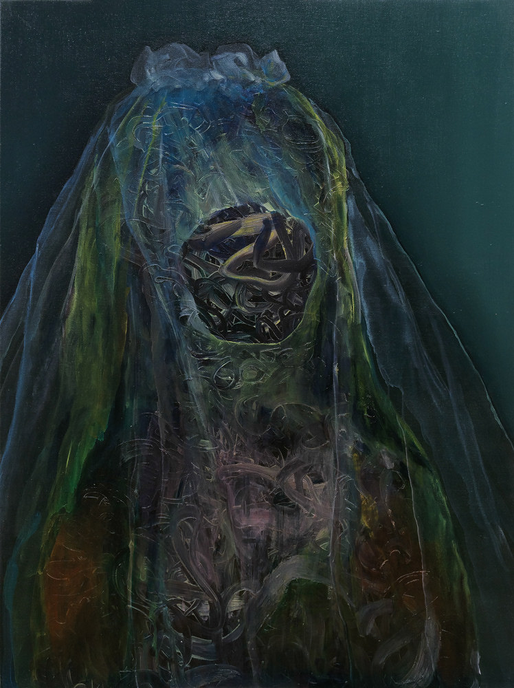 Agnes, the bride (120 x 90 cm, oil on canvas, 2015)