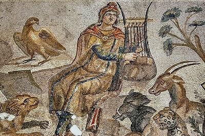 Orphée jouant sa lyre