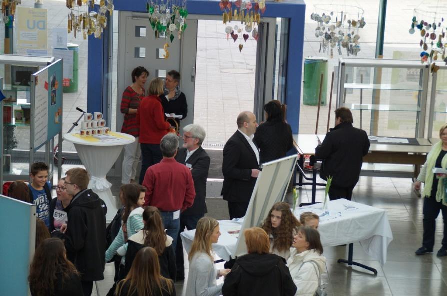 Foto Aula der Erich Kästner Realschule am Tag der offenen Tür