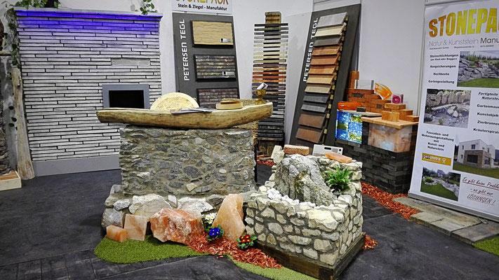 Stein & Ziegel Ausstellung von Stonepack auf der Häuslbauer Messe in Klagenfurt