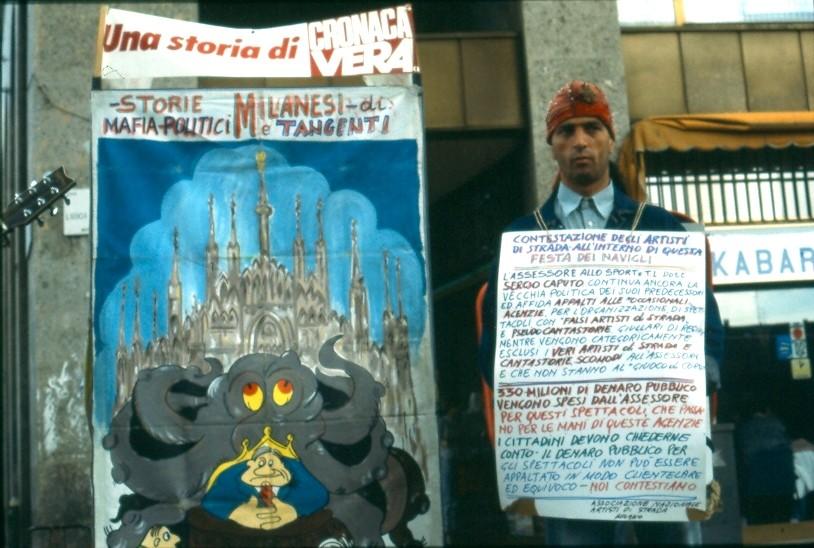 PORTA TICINESE 1992  PROTESTA CON MUSTAFA'