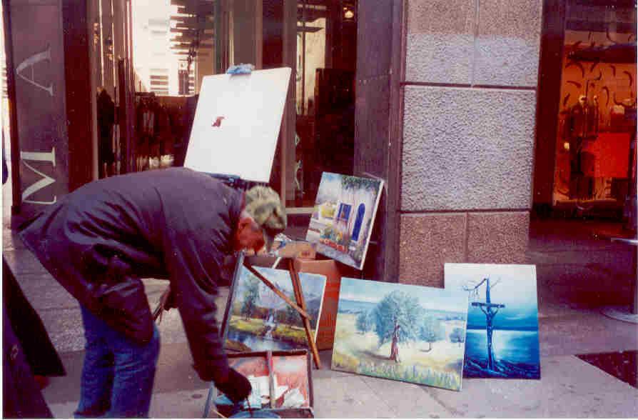 Pittore Piazza Duomo 2001