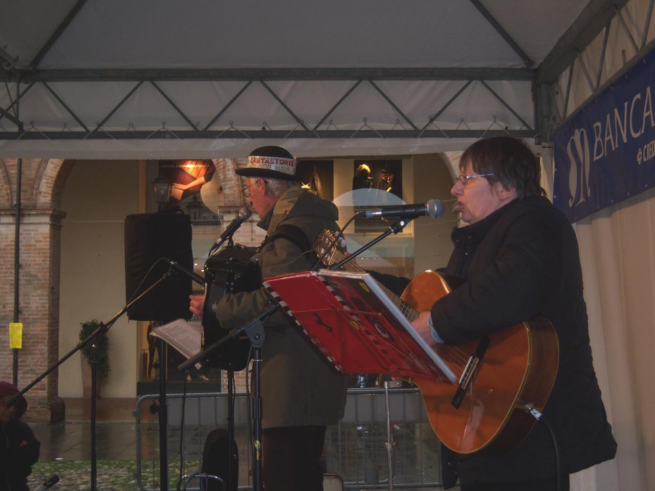 Sandra Boninelli e Giuliano Piazza in ricordo di Marino