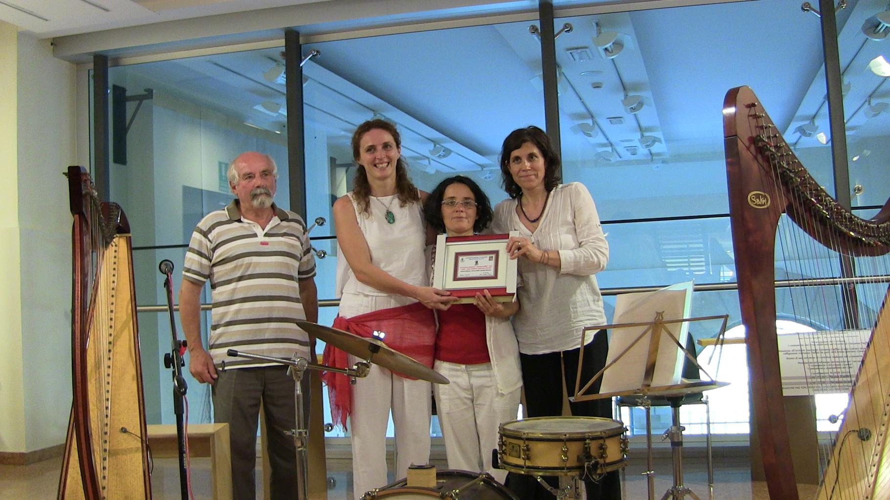 Premiazione Azzurra Giudici, Samuela Marzorati, Roberta Pestalozza 2° Premio Cantastorie e la Grande Guerra