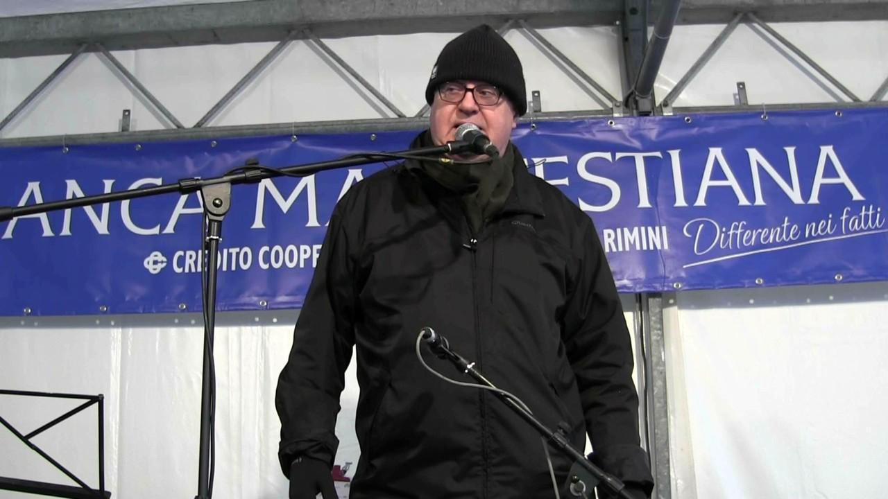 Remo Vigorelli organizzatore e presentatore 45° Sagra Nazionale Cantastorie insieme all'Associazione Nazionale Cantastorie AICA LORENZO DE ANTIQUIS