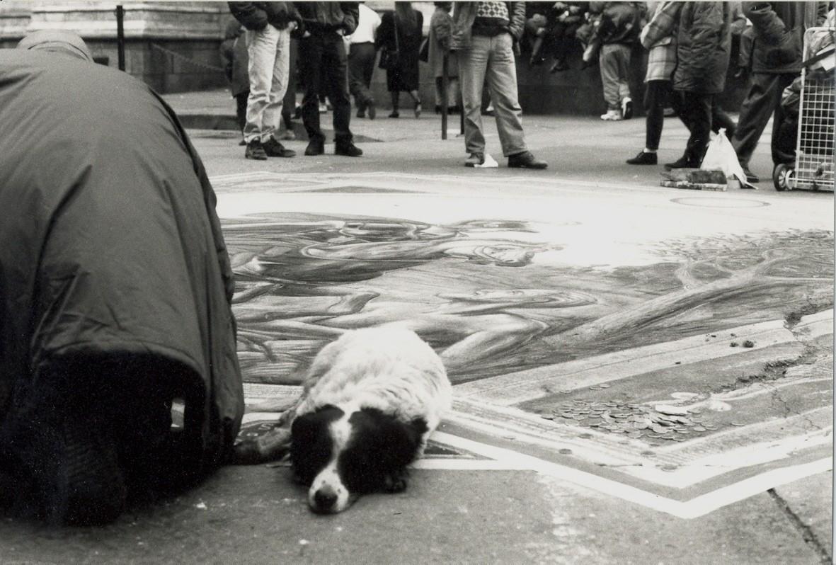 Madonnaro con cane 1997