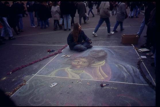 Madonnaro Piazza Duomo 2001