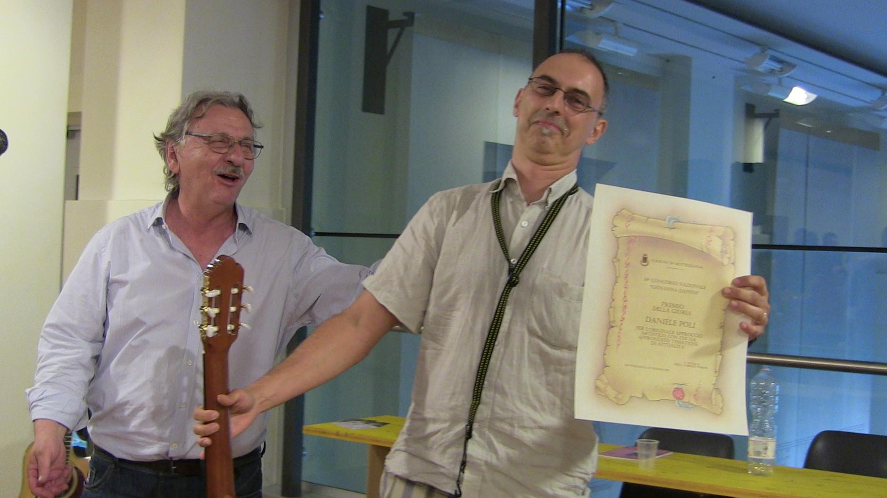 Premiazione Daniele Poli Premio della Giuria