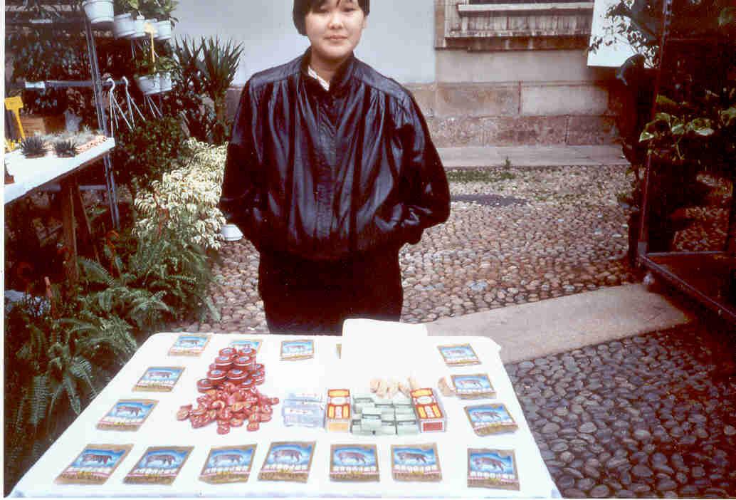 Venditrice balsamo di mtigre Piazzetta reale 1991