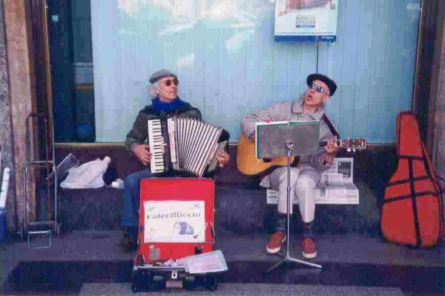 """Renato Ponso e Eugenio Di Norcia """"I Fateciricchi"""" Porta Ticinese 1996"""