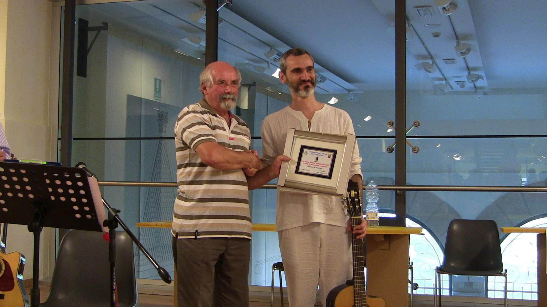 Premiazione Francesco de Francisco 1° Premio Cantastorie e sostenibilità del cibo