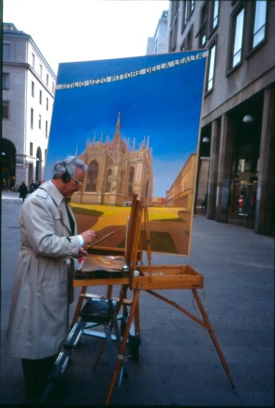 Pittore Piazza Duomo 1991