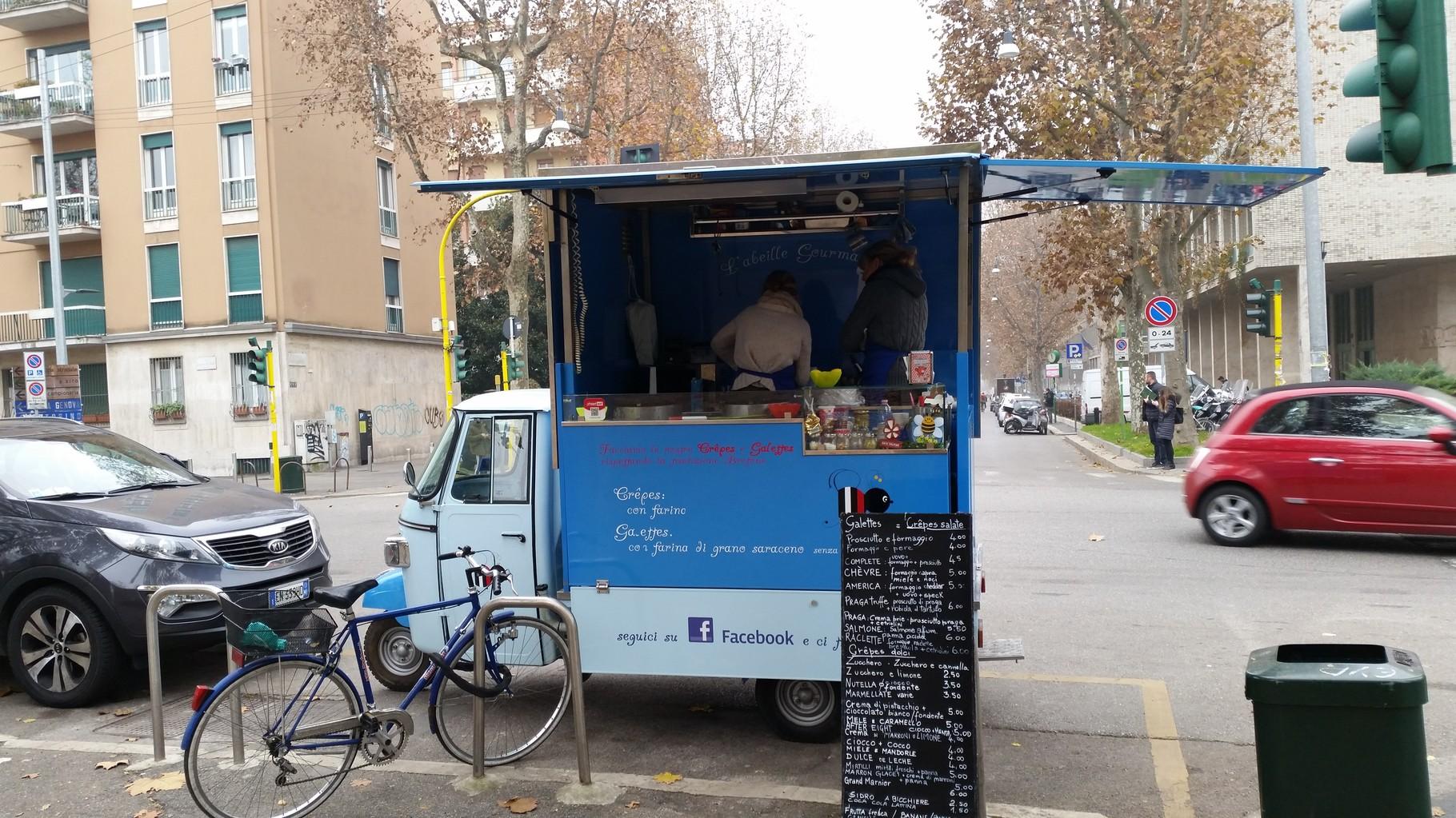 Cibo di strada Università Bocconi 2015