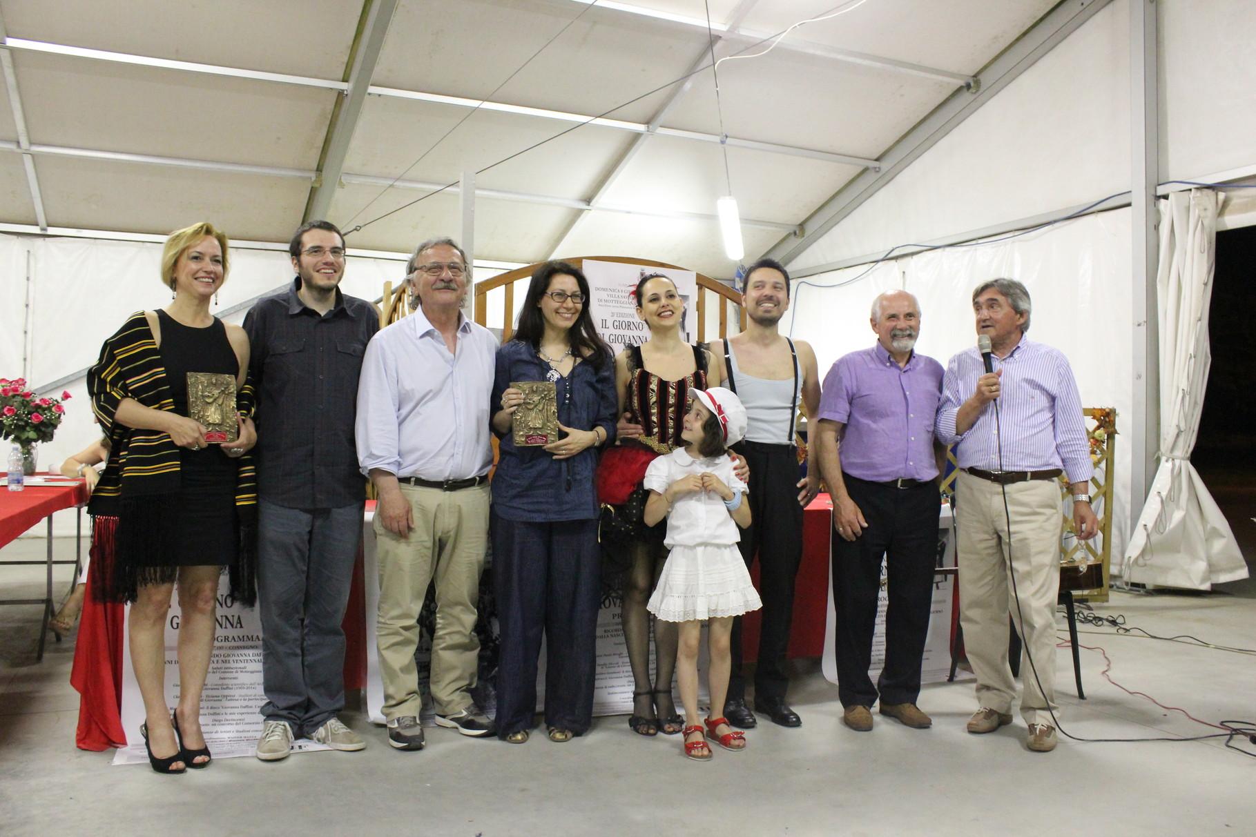 foto di gruppo dei vincitori al premio Daffini 2014