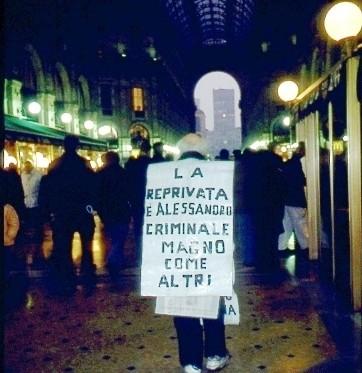 Personaggo  Galleria Vittorio Emanuele 1992