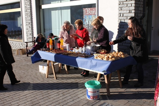 Sosta ristoratrice offerta dalle famiglie della comunità