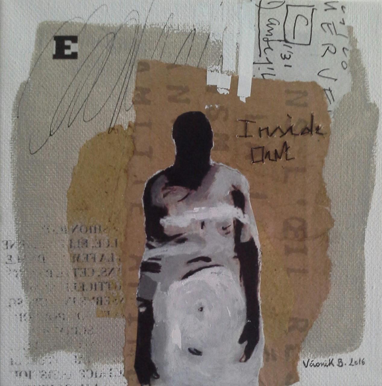 """""""Inside Out"""" (15×15cm) 2016 techniques mixtes sur toile 2016"""