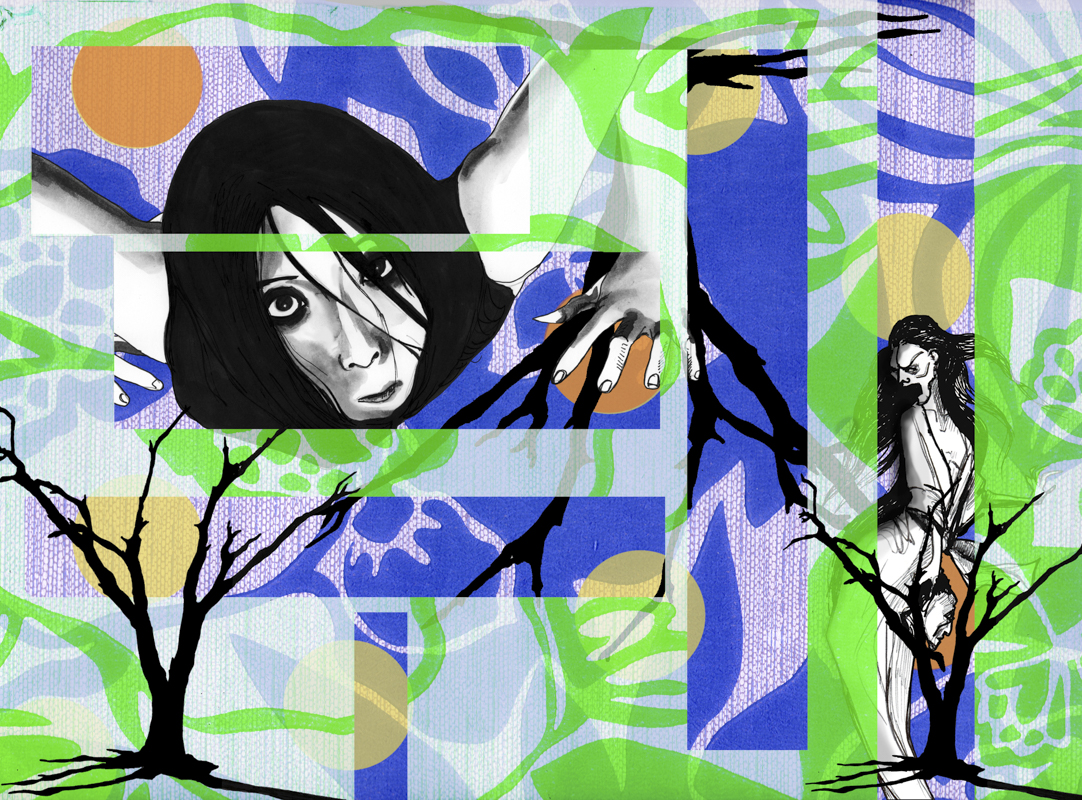 """""""Kayako"""" - Impression numérique sur papier beaux arts."""
