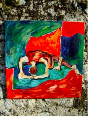 """""""S'approprier entièrement les possibilités d'un corps"""" - Huile sur toile - 2007"""