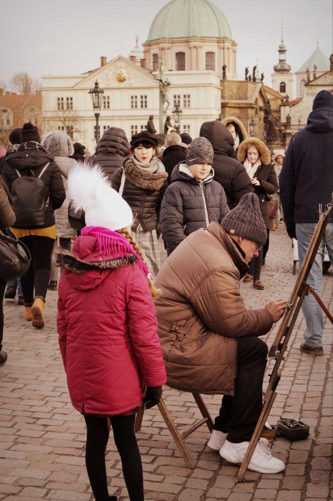Maler auf der Karlsbrücke