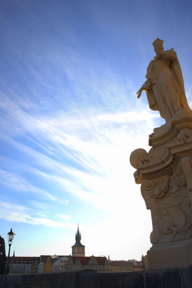 Skulptur auf der Karlsbrücke