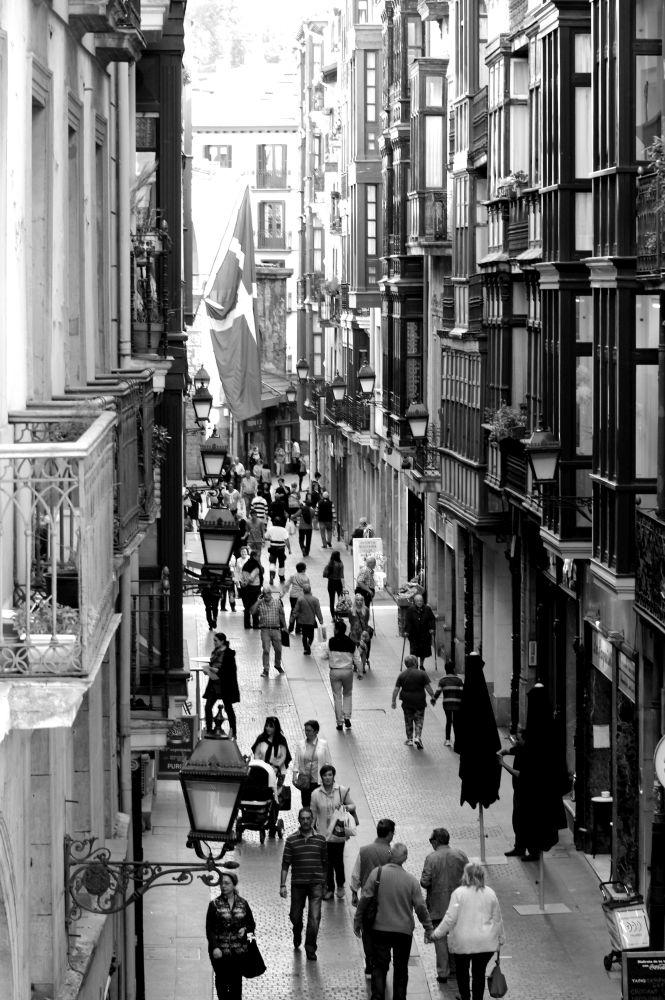 Fussgängerzone in Bilbao