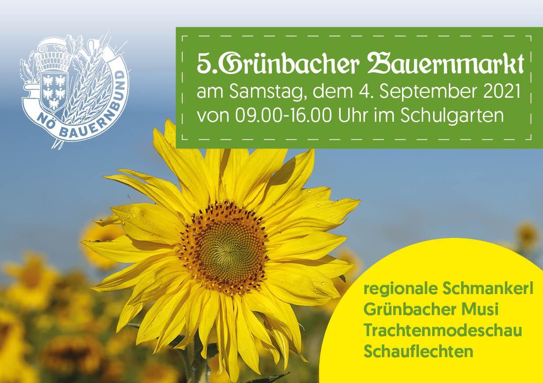 5. Grünbacher Bauernmarkt am 4.9.2021