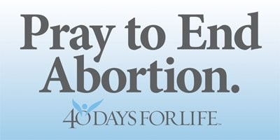<> Tap image to access site of 40 Days For Life