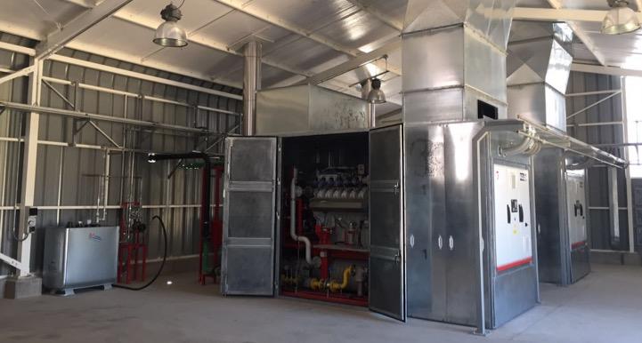 Casa de maquinas - generadores a biogas