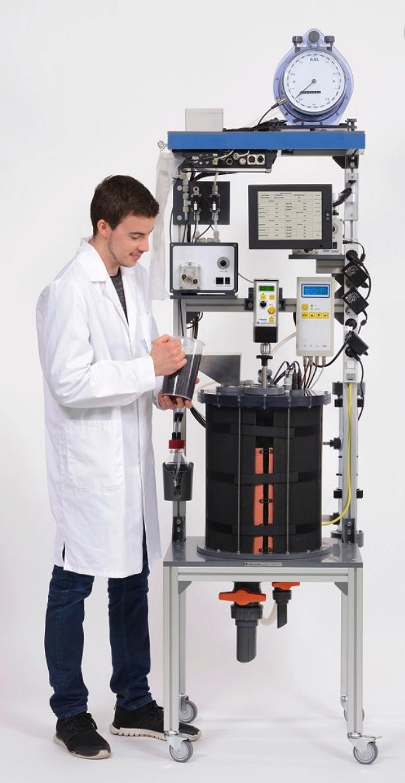 Planta piloto de laboratorio para producción de biogás