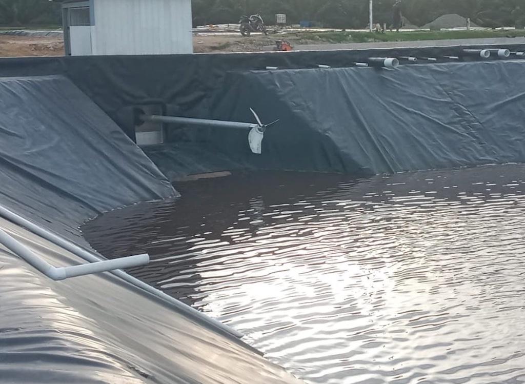 Agitador para biodigestor aprovechamiento POME  - aguas residuales aceite de palma africana