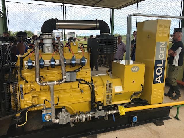 Generador a biogás - proyecto Marti II Cuba (2018)